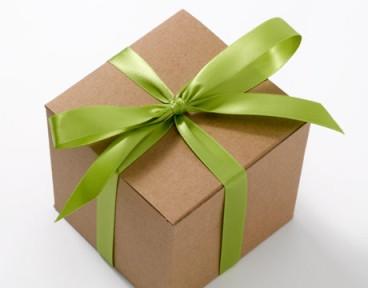 brown box as present
